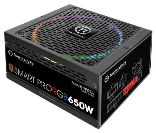 Блок питания ATX 650 Вт Thermaltake Smart Pro RGB PS-SPR-0650FPCBEU-R блок питания atx 1000 вт thermaltake w0429re волга
