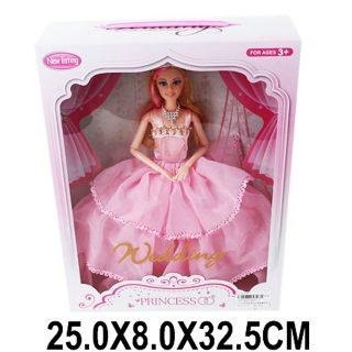 """Кукла Shantou Gepai """"Невеста"""", в розовом платье 29 см шарнирная недорого"""