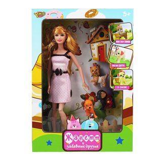Кукла Shantou Gepai Жанетт и забавные друзья, в кремовом платье 29 см шарнирная M6583-3 кукла yako m6583 6