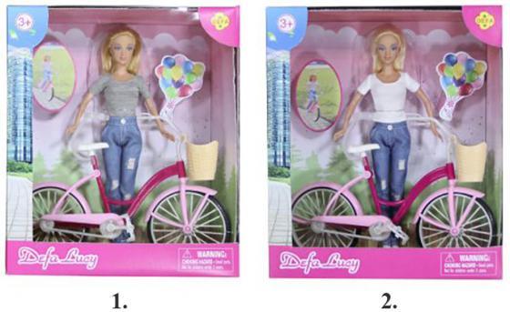 Кукла DEFA LUCY Дефа Люси - Летние прогулки с велосипедом 29 см ассортимент, 8361 кукла defa lucy 8077
