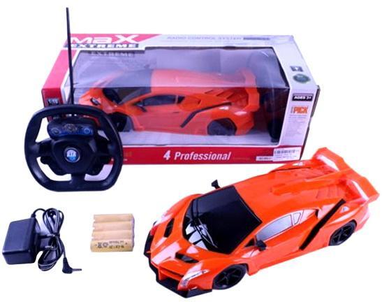 Машинка на радиоуправлении Shantou Gepai Max Extreme, оранжевый от 3 лет пластик машинка на радиоуправлении shantou gepai sumptuous оранжевый от 3 лет пластик