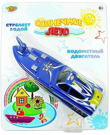 Катер Shantou Gepai Солнечное лето с брандспойтом 24 см синий M6500 игрушка shantou gepai наша игрушка катер солнечное лето m6514