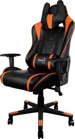 Кресло компьютерное игровое Aerocool AC220-BO черно-оранжевый цена и фото