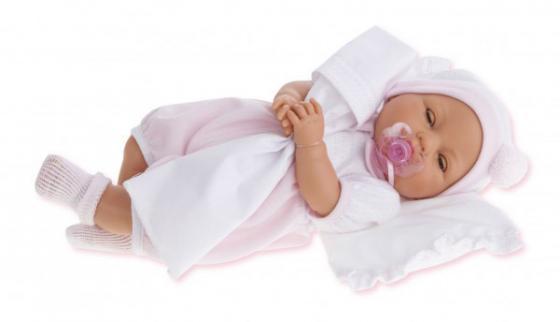 Кукла Munecas Antonio Juan Габи в розовом 1444P 37 см плачущая munecas antonio juan кукла эвита в розовом 38 см munecas antonio juan