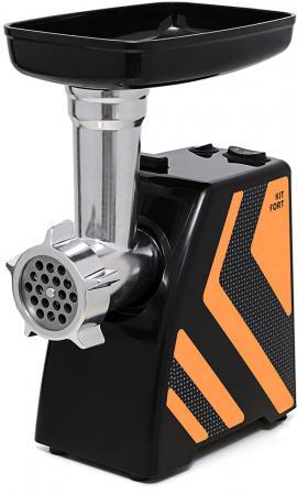 ЭлеKTромясорубка KITFORT KT-2101-3 1500 Вт чёрный оранжевый цена