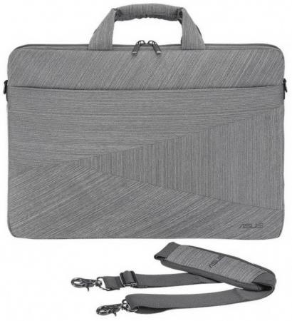 """Сумка для ноутбука 15"""" ASUS ARTEMIS BC250 полиэстер серый цена и фото"""