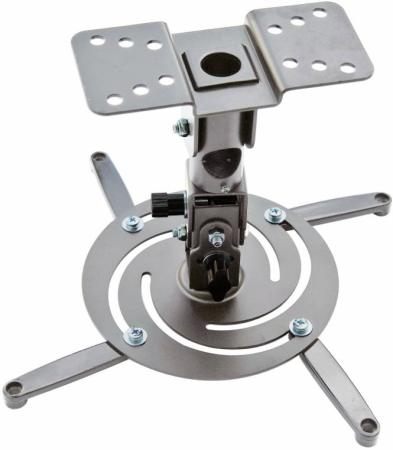 лучшая цена Кронштейн для проектора Cactus CS-VM-PR04-AL серебристый макс.10кг настенный и потолочный поворот и наклон
