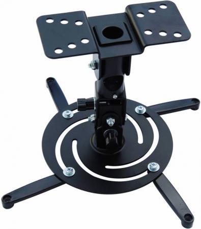 Кронштейн для проектора Cactus CS-VM-PR04-BK черный макс10кг настенный и потолочный поворот и наклон