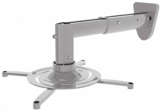 лучшая цена Кронштейн для проектора Cactus CS-VM-PR05B-AL серебристый макс.10кг настенный и потолочный поворот и наклон