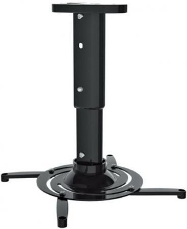 Кронштейн для проектора Cactus CS-VM-PR05M-BK черный макс10кг настенный и потолочный поворот и наклон
