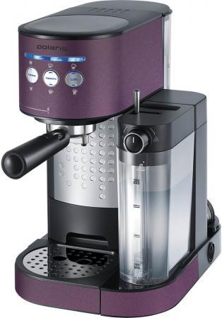 Кофеварка Polaris PCM 1525E Adore Cappuccino 1350 Вт фиолетовый кофеварка капельного типа polaris pcm 1211 black green