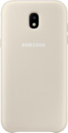 Чехол Samsung EF-PJ330CFEGRU для Samsung Galaxy J3 2017 Dual Layer Cover золотистый чехол samsung ef pj530cpegru для samsung galaxy j5 2017 dual layer cover розовый