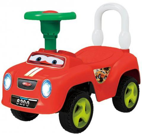 Каталка-машинка Shantou Gepai Виражи пластик от 3 лет с гудком красный EBL8200R shantou gepai каталка ходунки бегемотик со светом и звуком shantou gepai