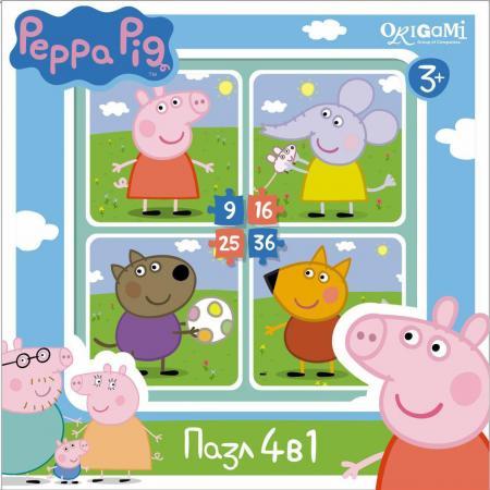 Пазл ОРИГАМИ Peppa Pig На прогулке 01598 peppa pig пазл супер макси 24a контурный магниты подставки семья кроликов