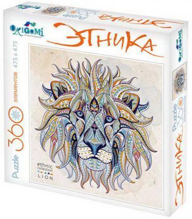 Пазл 360 элементов ОРИГАМИ Арт-терапия Лев пазл для раскрашивания арт терапия царь зверей origami 360 деталей
