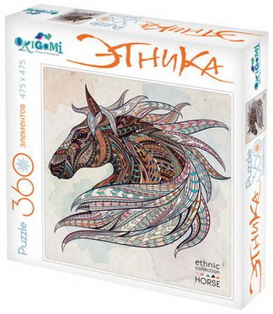 Пазл 360 элементов ОРИГАМИ Арт-терапия Лошадь 02348 пазл для раскрашивания арт терапия царь зверей origami 360 деталей