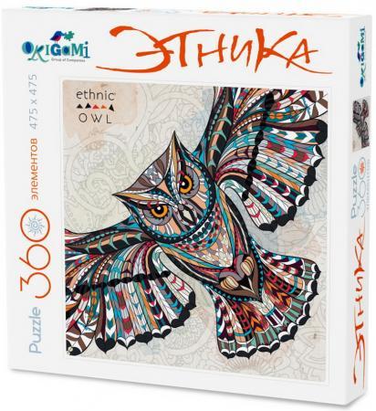 Пазл 360 элементов ОРИГАМИ 360А Арт-терапия Сова 02897 пазл для раскрашивания арт терапия царь зверей origami 360 деталей