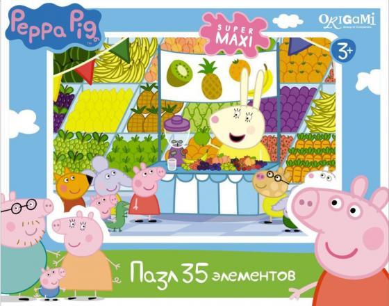 Пазл 35 элементов ОРИГАМИ «Peppa Pig» Магазин фруктов 01547 peppa pig пазл супер макси 24a контурный магниты подставки семья кроликов
