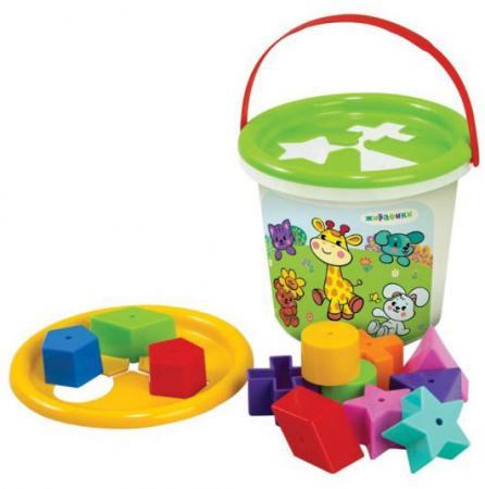 Сортер Жирафики Волшебное ведерко 231261 в ассортименте жирафики развивающая игрушка цветной мячик в ассорименте жирафики