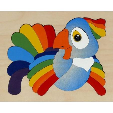 Мозайка-вкладыш Крона Попугай 29 деталей деревянная 143-017 крона бим бом крона