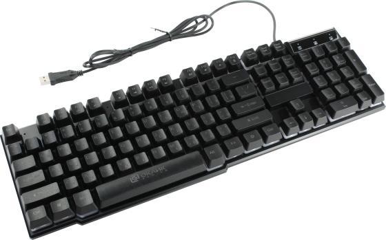Клавиатура проводная Oklick 780G USB черный цена и фото