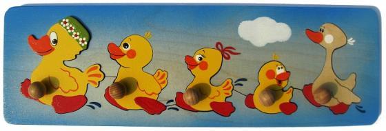Рамка-вкладыш Крона Весёлые утята 143-033 мозайка вкладыш крона попугай 29 деталей деревянная 143 017