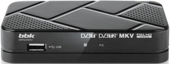 Тюнер цифровой DVB-T2 BBK SMP023HDT2 серый тюнер цифровой dvb t2 bbk smp022hdt2 серый