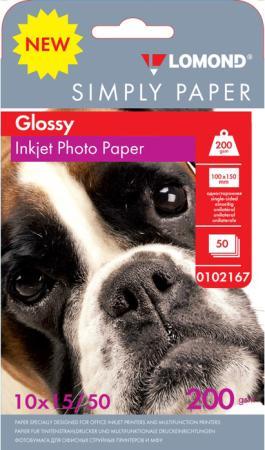 Фото - Фотобумага Lomond Simply 10x15 200г/м2 50л белый глянцевое покрытие для струйной печати 0102167 фотобумага