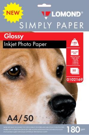 Фото - Фотобумага Lomond Simply A4 180г/м2 50л белый глянцевое покрытие для струйной печати 0102169 фотобумага