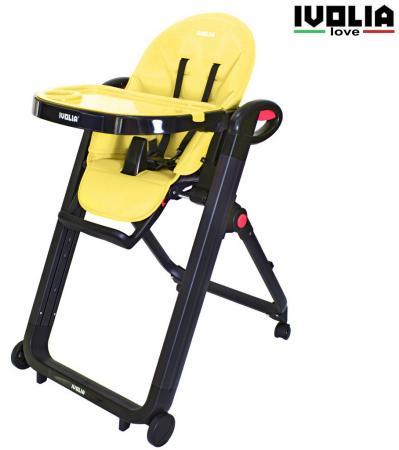 Стульчик для кормпления Ivolia Love (4 колеса/yellow) ivolia стульчик для кормления love