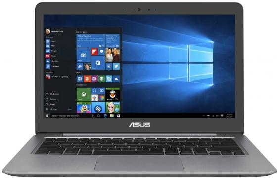 Ноутбук Asus Zenbook UX310UQ-FC518T Core i3 7100U/4Gb/SSD128Gb/nVidia GeForce 940MX/13/FHD (1920x1080)/Windows 10/grey/WiFi/BT/Cam серый 90NBOCL1-M07860 купить