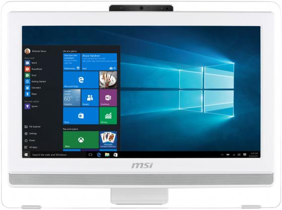 "Моноблок 20"" MSI Pro 20T 7M-040RU 1600 x 900 Touch screen Intel Core i3-6100 4Gb 1Tb Intel HD Graphics 630 DOS белый 9S6-AA7812-040"