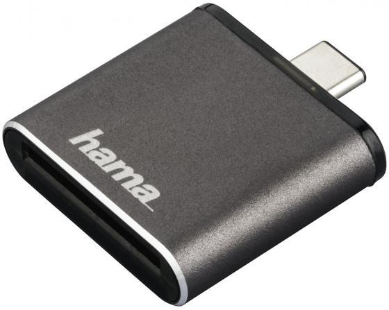 Картридер внешний Hama H-124186 USB3.1 серый 00124186 картридер внешний hama h 91092 usb2 0 прозрачный 00091092
