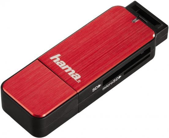 Картридер внешний Hama H-123900 USB3.0 красный 00123902