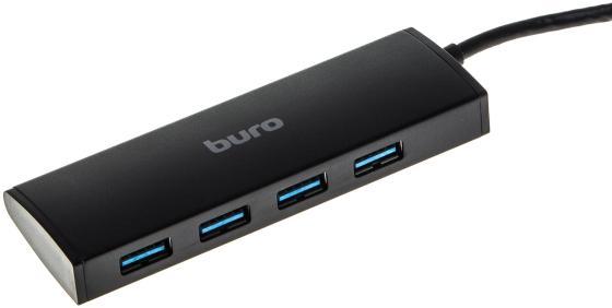 Концентратор USB 3.0 BURO BU-HUB4-0.5-U3.0 4 4 х USB 3.0 черный концентратор usb 3 0 vcom telecom dh310 4 х usb 3 0 черный page 4