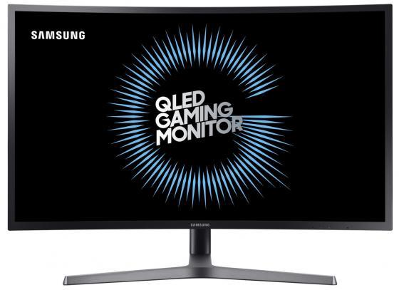 Монитор 32 Samsung LC32HG70QQIXCI черный cерый VA 2560x1440 350 cd/m^2 1 ms HDMI DisplayPort Аудио USB монитор 27 samsung c27fg73fqi cерый va 1920x1080 350 cd m^2 1 ms hdmi displayport аудио