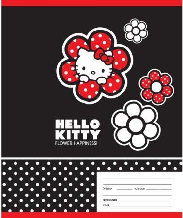 Тетрадь школьная Action! Hello Kitty 18 листов линейка скрепка HKO-AN-1801/