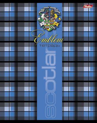 Тетрадь общая Хатбер Шотландка 48 листов линейка скоба 012933 48Т5В2/Ш