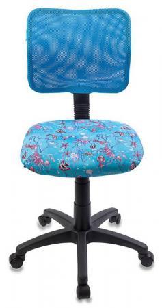 Кресло детское Бюрократ CH-295/LB/AQUA спинка сетка голубой аквариум Aqua
