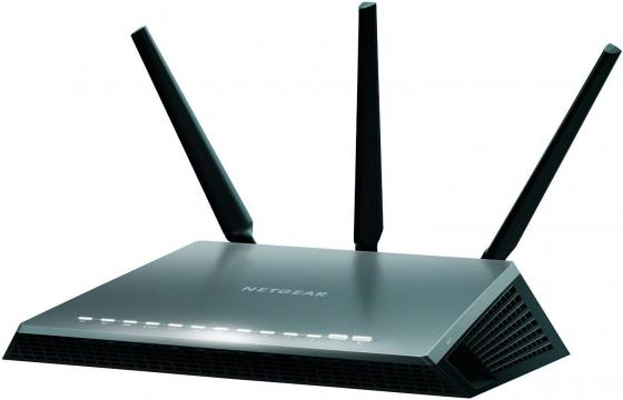 Беспроводной маршрутизатор NetGear D7000-100PES 802.11aс 1900Mbps 5 ГГц 2.4 ГГц 4xLAN USB черный беспроводной маршрутизатор netgear wndr3400 100pes