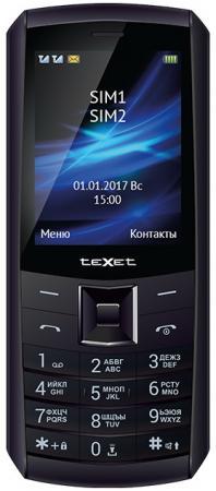 Мобильный телефон Texet TM-D328 черный 2.8