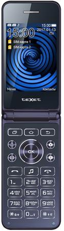 TEXET TM-400 Мобильный телефон цвет синий texet tm 513r
