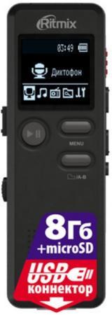 Цифровой диктофон Ritmix RR-610 8Гб черный