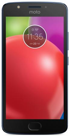 Смартфон Motorola Moto E синий 5 16 Гб LTE Wi-Fi GPS 3G XT1762 PA750050RU motorola pulse 2 wired black