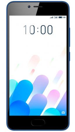Смартфон Meizu M5c синий 5 16 Гб LTE Wi-Fi GPS 3G смартфон micromax q334 canvas magnus черный 5 4 гб wi fi gps 3g