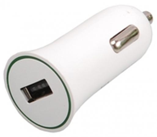 Зарядное устройство Ritmix RM-112DC 1A USB белый ritmix rm 112 black автомобильное зу