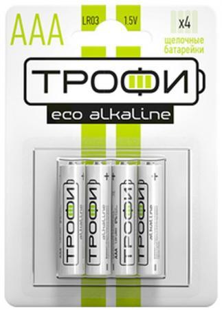 Батарейки ТРОФИ Eco LR03-4BL LR03 4 шт 40/960/37440