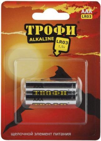 Батарейки ТРОФИ Eco LR03-2BL 2 шт 20/480/17280