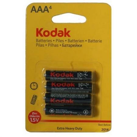 Батарейки KODAK Extra Heavy Duty R03-4BL K3AHZ-4 48/240/54000 AAA 4 шт