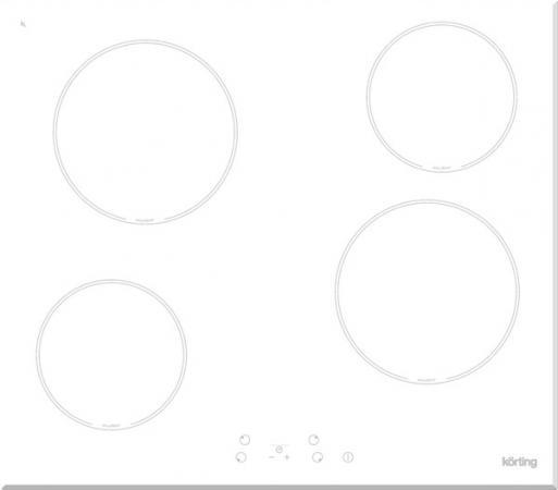Варочная панель электрическая Korting HK 60001 BW белый варочная панель электрическая korting hk 60001 b черный